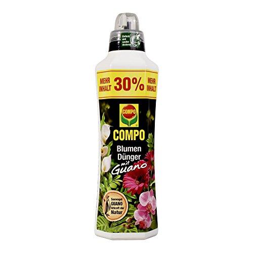 COMPO Blumendünger mit Guano für alle Zimmer-, Balkon- und Terrassenpflanzen,  Universaldünger, 1,3 Liter (20 20 20-dünger Flüssig)