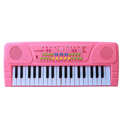 Keyboard Kinder, Foxom 37 Tasten Elektrisches Klavier Keyboard Musik Spielzeug Klavier Geschenk für Kinder ab 3 Jahre