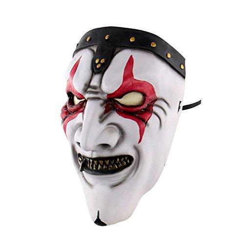 Reefa Halloween Terror Mask Tanzstützen Gummiband -Stil mit Clown Hexe Tote (Bilder Clown Kostüme)