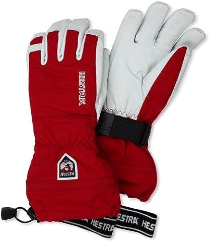 Hestra Army Leather Heli Ski Gloves, Red, 10