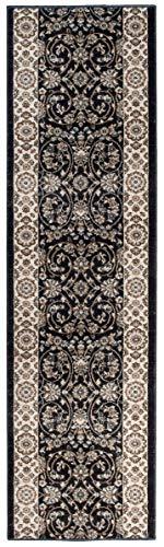 Tapiso colorado tappeto passatoia corridoio classico salotto entrata casa antracite crema floreale orientale tradizionale a pelo corto 70 x 220 cm