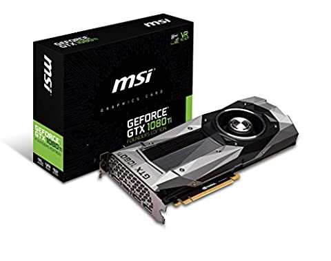 MSI GeForce GTX 1080TI Founders Edition 11GB Nvidia GDDR5X 1x HDMI, 3x DP, 2 Slot Afterburner OC, VR Ready, 4K-optimiert,