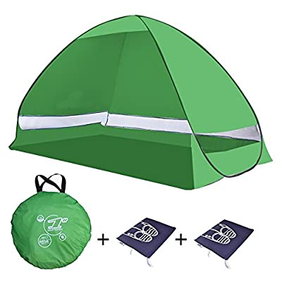 Multicolor Automatic Pop Up Beach Tent- UV 50+ Protection Portable Outdoor Tent,Kids Play Tent,Sun Shelter For Outdoor and Indoor Use- Fits up to 2 Adults + Kids+ Free Shoes Bags