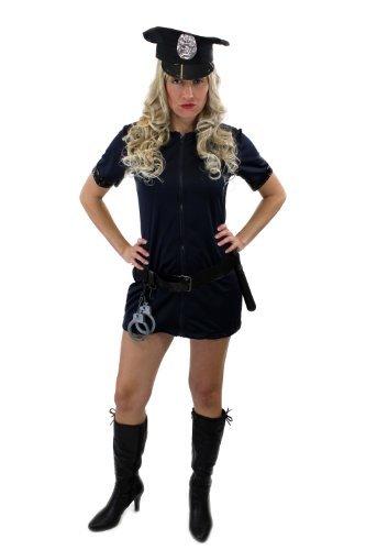 Komplettset: Kostüm Damenkostüm Sexy Politesse Polizistin Female Cop Beatcop Gr. 44, (Comic Kostüme Sexy Con)