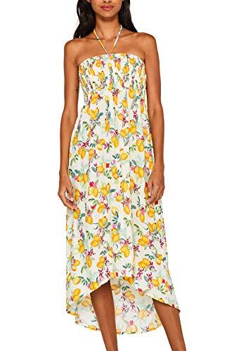 ESPRIT Maxi-Kleid mit Zitronen-Print und Troddeln