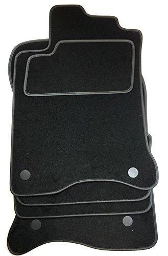Preisvergleich Produktbild Fußmatten passend für Renault Laguna 3 Baujahr ab 2007. Schwarz, Kunstleder