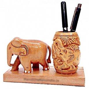 The Indian Arts - Soporte para bolígrafo, diseño de Elefante