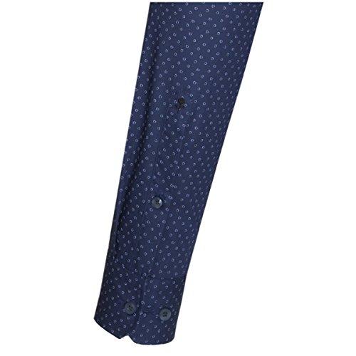 SEIDENSTICKER Herren Hemd X-Slim 1/1-Arm Bügelleicht City-Hemd Kent-Kragen Kombimanschette weitenverstellbar dunkelblau (0019)