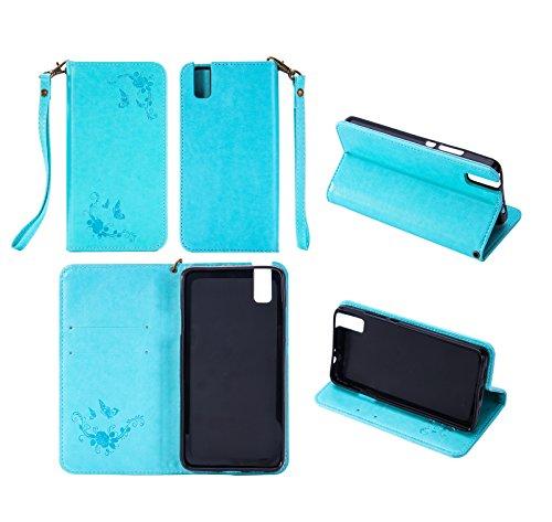 Cozy Hut Huawei ShotX/Honor 7i Hülle | Lederhülle | Handyhülle | Schutzhülle | Handytasche | Tasche | Cover | Case Für Huawei ShotX/Honor 7i - Mint Green