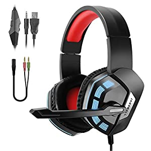 JAMSWALL Gaming Headsets für PS4 Xbox One PC Laptop, 3,5 mm Stereo Gaming Kopfhörer, Over-Ear Surround Sound Kopfhörer…