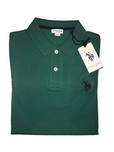 U.S.POLO ASSN. Herren Poloshirt, einfarbig Grün