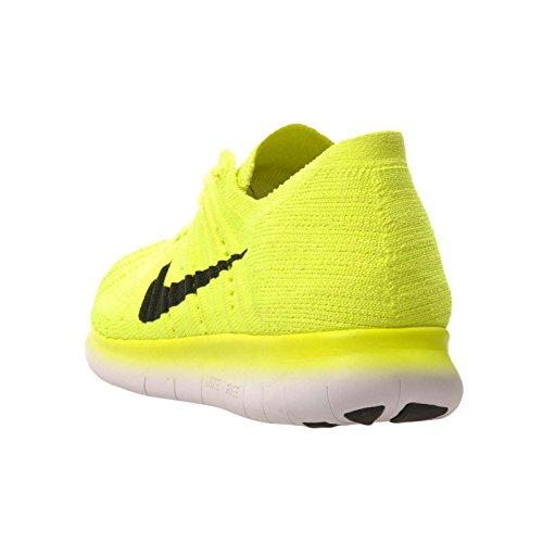 Nike Jungen Free Rn Flyknit (Gs) Laufschuhe Verde (Volt / Black-White)