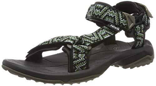Teva Terra Fi Lite M's Sandali con Cinturino alla Caviglia Uomo, Verde (Nikos Black/Green 433) 43 EU