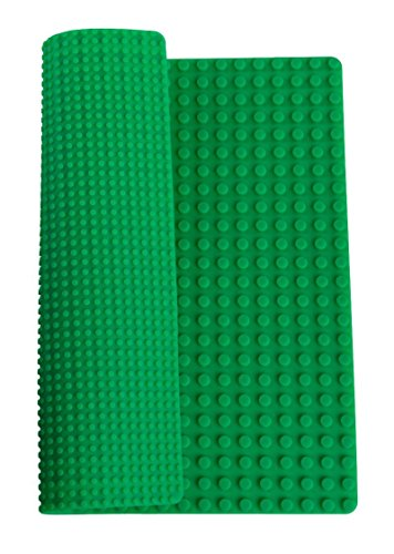 Strictly Briks - Rollbare Premium-Bauplatten-Matte aus Silikon - doppelseitig & kompatibel mit großen Bausteinen Aller führenden Marken - 15