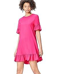 FIND Damen Kleid mit Rüschensäumen