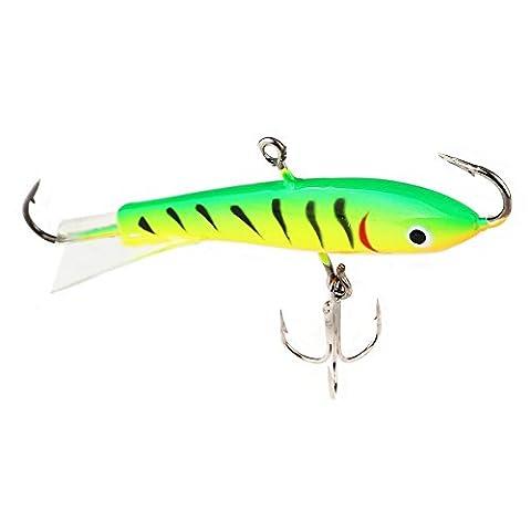 A-szcxtop Ice Jig Leurres de pêche réalistes Swimbait Appât artificiel s'enfoncer avec Strong Crochets Bass Bait 7.7cm 21g, Green