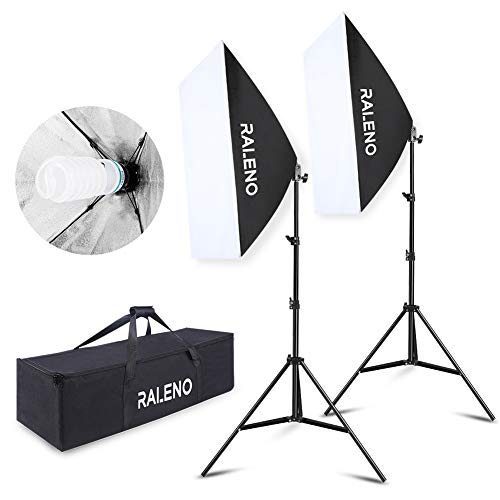 Softbox Focos Kit Iluminación Fotografía 2 Lámparas