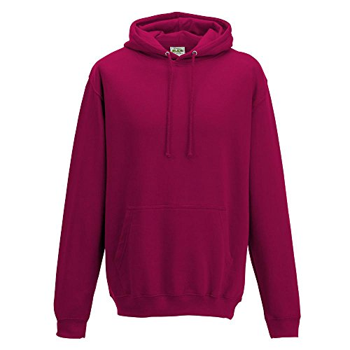 Just Hoods College Hoodie Cranberry
