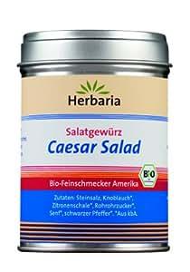 """Herbaria """"Caesar Salad"""" Gewürzmischung für Salat, 1er Pack (1 x 120 g Dose) - Bio"""