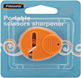 Fiskars Universal Scissor Sharpener, For Right- and Left-handed People, Ceramic grinding heads/Plastic casing, Orange, 1003871