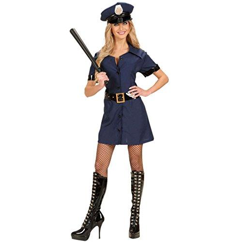 Lady Cop Kostüm Polizeikostüm blau L 42/44 Polizistin -