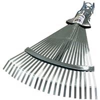 Rechen aus pulverbeschichtetem Stahl Harke mit 22 flachen Zinken Xclou Laubbesen