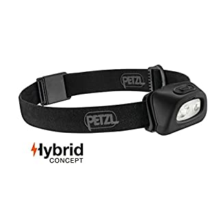 Petzl E89AAA NEW TACTIKKA + Compact Headlamp with White/Red Lighting, 250 lm, Black