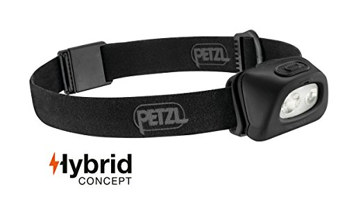Petzl Tactikka + Stirnlampe, Schwarz, One Size