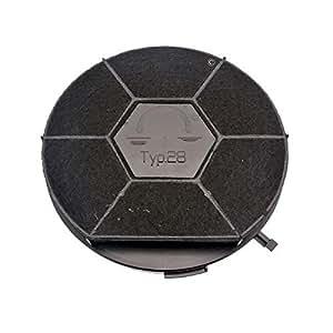 Filtre a charbon type 28 240mm- 500 g hotte faure chm160w