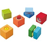 Preisvergleich für Haba 7628 - Entdeckersteine Klangspaß, robustes Holzspielzeug und Lernspiel ab 1 Jahr, 6 farbenfrohe Bauklötze mit unterschiedlichen akustischen Effekten