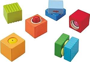 haba 7628 entdeckersteine klangspa robustes holzspielzeug und lernspiel ab 1 jahr 6. Black Bedroom Furniture Sets. Home Design Ideas