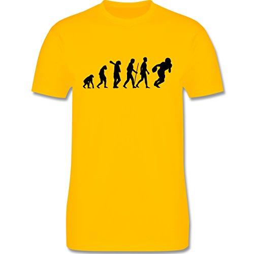 Evolution - Football Evolution - Herren Premium T-Shirt Gelb