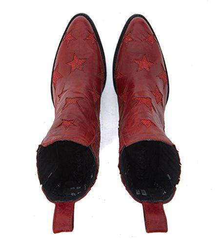 Demi-bottes texan Mexicana Circus en peau rouge bordeaux Rouge