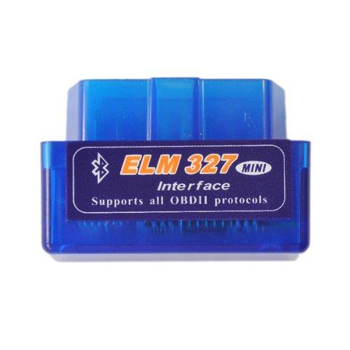 Super Mini ELM327Bluetooth OBD2V1.5Auto Diagnose Interface Tool-Blau
