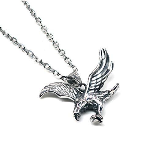 DIAOSI Personalisierte Eagle Anhänger Halskette, Titan Stahl Anhänger Anhänger Tide Boy Hip Hop Street Style Schmuck kann als Geburtstagsgeschenk gesendet Werden -