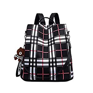 JOJYO Mujer Bolso Mochila, Antirrobo Mochila de Moda Backpack Daypack Shoulder Mochila Escolar Casual Bolso de Hombro Bolso de Mano para ir de Compras Mochila Informal de Viaje (Black)