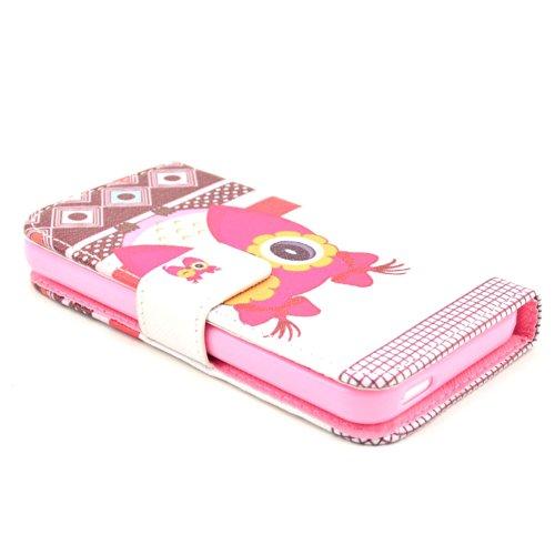 MOONCASE iPhone 5C Case Motif Conception Coque en Cuir Portefeuille Housse de Protection Étui à rabat Case pour iPhone 5C P17