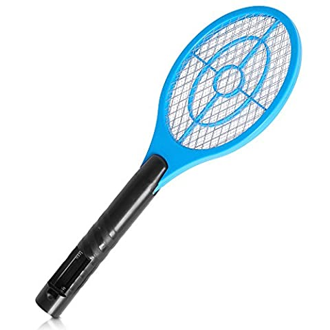ELECTRIC ZAPPER BUG BAT FLY MOSQUITO INSECT KILLER WASP TRAP SWAT SWATTER RACKET Evelyn Living®