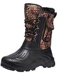 100% authentic 53d3a 43d3c Botte de Neige Homme Hiver, Manadlian Bottes Militaires Camouflage Bottines  Chaud Boots Fourrure Cuir Imperméable