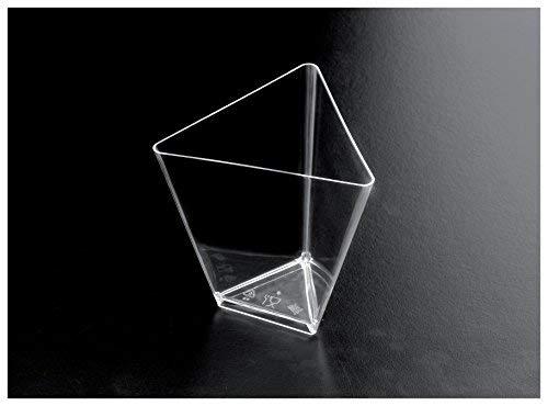 Gold Plast-Coupelle triangle-25 par paquet 67x67 mm transparent
