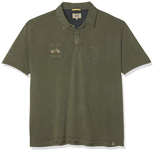 camel active Herren Polo PIQUÉ 1/2 Poloshirt, Grün (Teal 75), XXX-Large (Herstellergröße: 3XL)