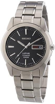 Seiko Reloj Analógico de Cuarzo para Hombre con Correa de Titanio – SGG731P1 de Seiko