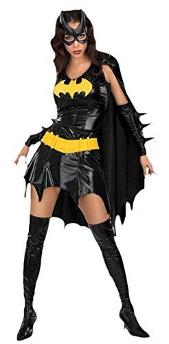 Fancy Ole - Damen Frauen Batgirl Kostüm, Karneval, Fasching, Schwarz, Größe ()