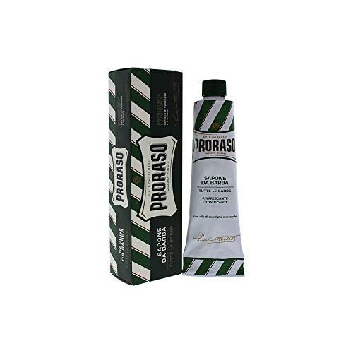 Proraso Grüne Linie Rasiercreme 150 ml Erfrischend mit Eukalyptusöl & Menthol -