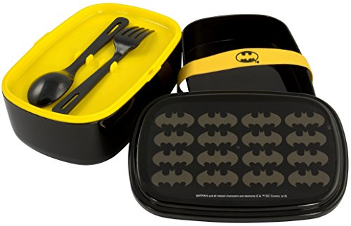 Image of Batwing Batman 0122035Bento Box Lunch Box with Cutlery and Lid
