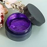 #6: Purple : Hot item! 100ml Women's Fashion Hair Tool Hair Modeling Temporary Hair Dye Cream Wax Mud