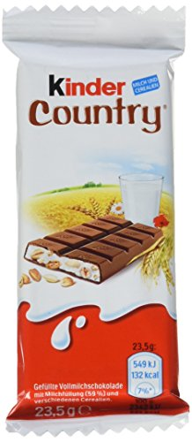 kinder Country Einzelriegel, 40er Pack (40 x 23,5 g Riegel)