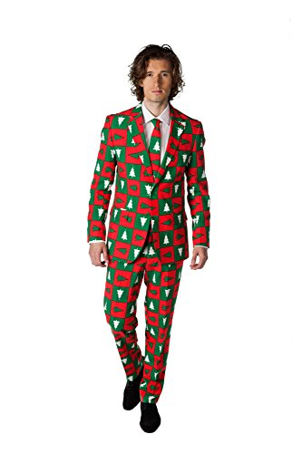 Opposuits Treemendous Weihnachtliches Kostüm, für Herren, Weihnachtsanzug (Anzug The Rudolph)