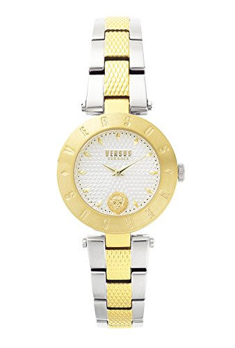 Versus by Versace Women's 'New Logo' Quartz Stainless Steel Casual Watch, Color:Two Tone (Model: S77090017)