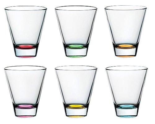 BARSKI europäischen Glas-Double Old Fashioned Tumbler Gläser-Einzigartige, verschiedene Farben-Set von 6-11,5oz-Made in Europe 8 Double Old Fashioned